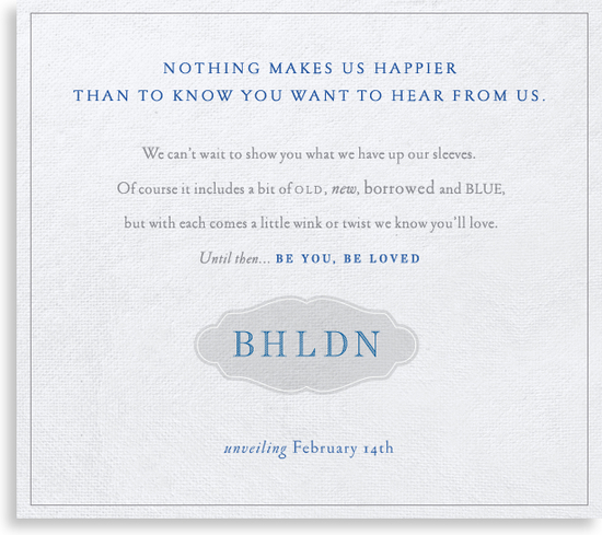 photo of Save-the-Date: Anthropologie Bridal Line, Valentine's Day Arrival!
