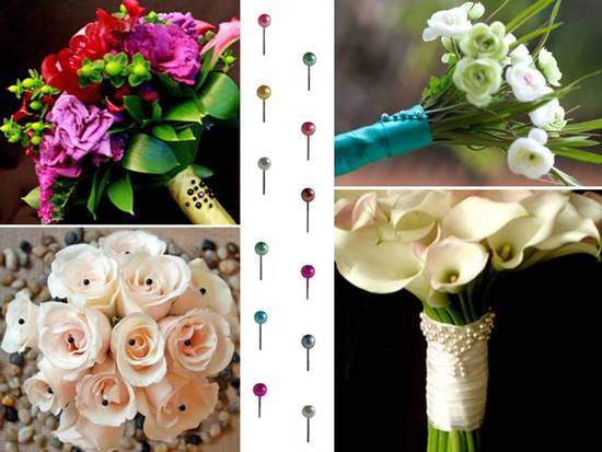 Jazz up your bridal bouquet, groom's bout or wedding cake with DIY flower pins