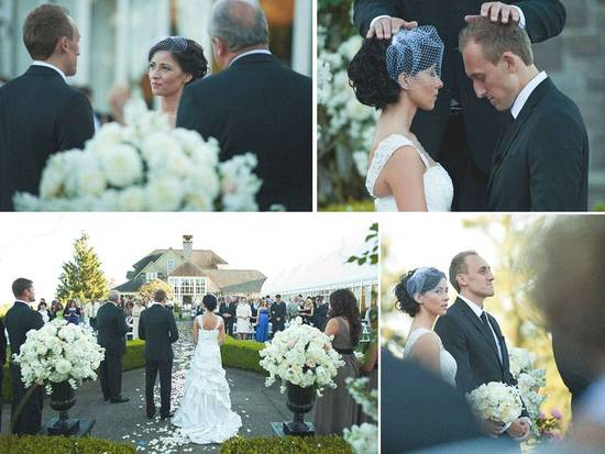 photo of Elegant Wedding Decor, Outdoor Venue: Alla and Cornell, Portland, OR