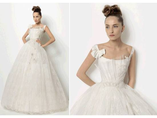 Stunning Christian Lacroix corseted ballgown wedding dress