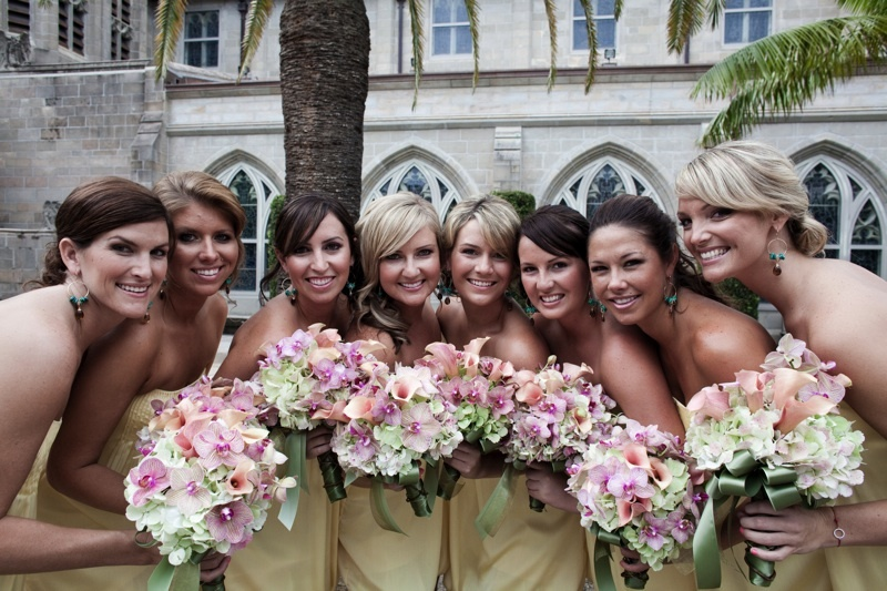 Question-for-brides-wiill-you-choose-a-hot-bridal-party-featured_weddings-yellow-bridesmaids-dress-romantic-bridal-bouquet.full