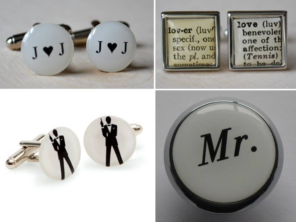 wedding day cufflinks for your groom- win this week!