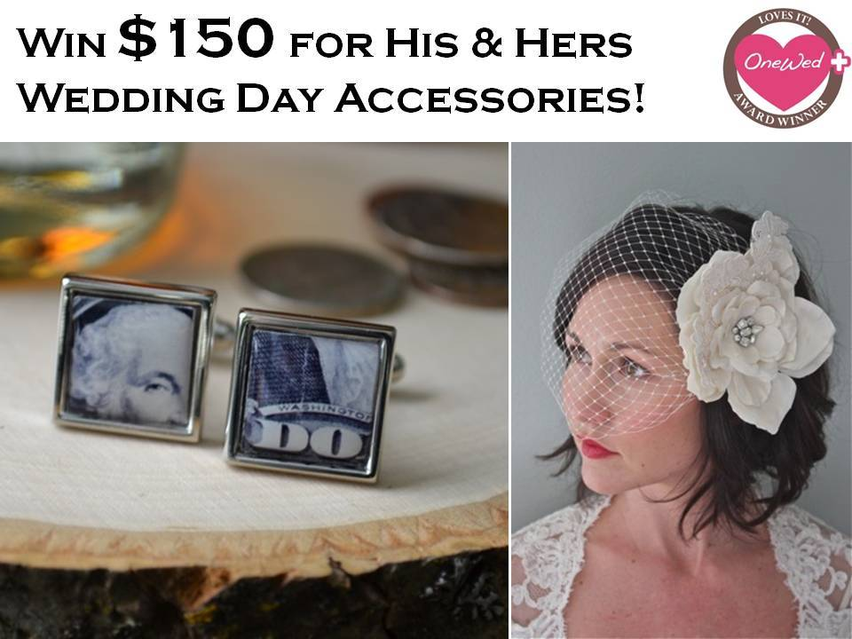 Wedding-giveaway-for-bride-and-groom-cuff-links-custom-bridal-veils-hair-accessories.full