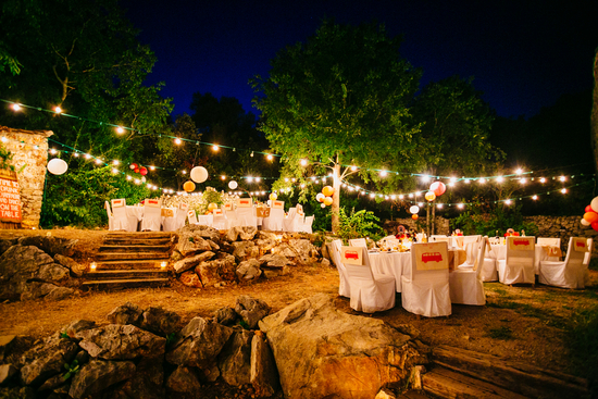 French countryside outdoor reception