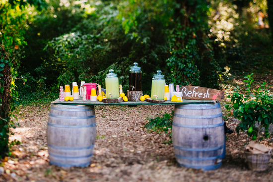 Lemonade stand for an outdoor French wedding