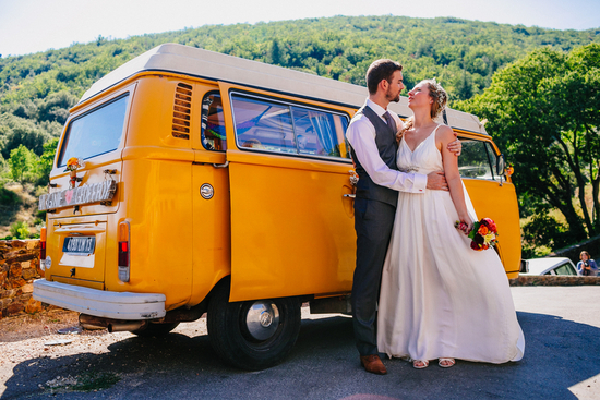 VW van for a French Real Wedding