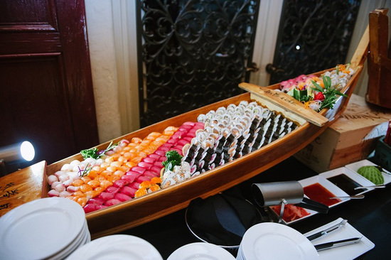 Addison Sushi Boat Display_Weddings