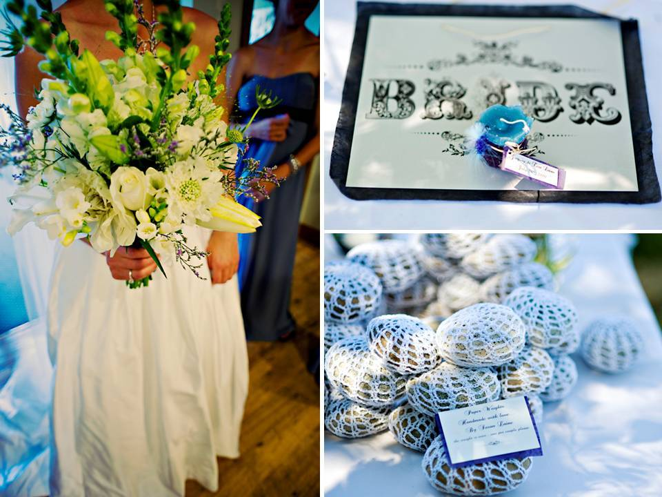 Casual-outdoor-wedding-brides-something-blue-white-wedding-dress-bridal-bouquet.full