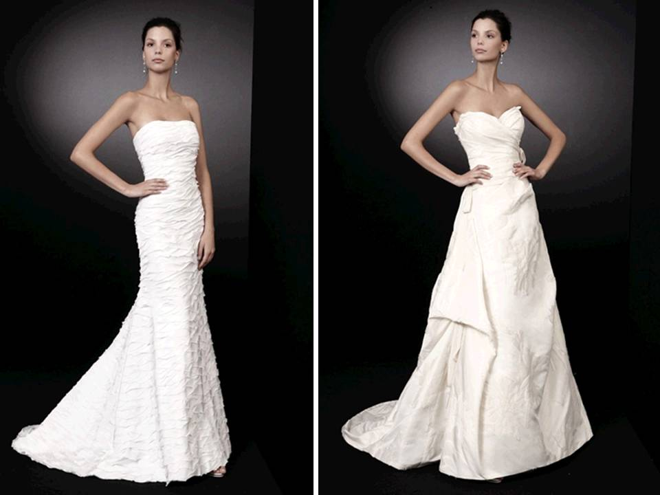 Classic White Strapless Wedding Dresses By Peter Langner