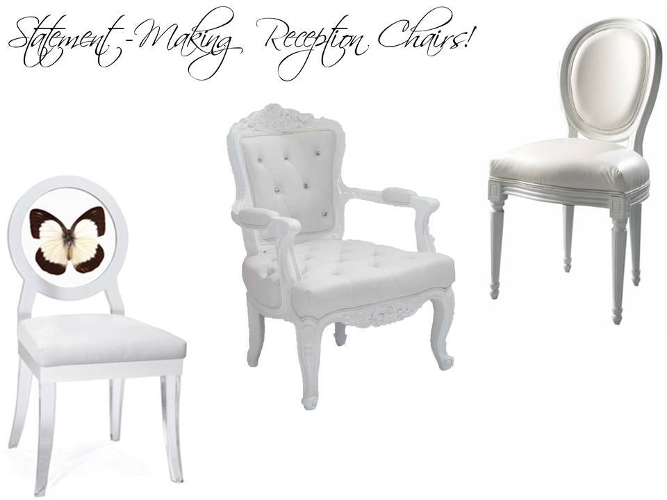 Incorporate unique chairs that make a statement into your wedding reception decor