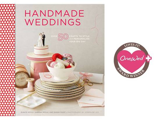 photo of Win Handmade Weddings book, chockfull of over 50 DIY wedding projects
