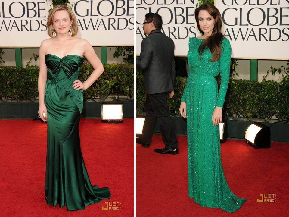 Green was a hot hue on the 2011 Golden Globes red carpet, and stars like Angelina Jolie and Mila Kun