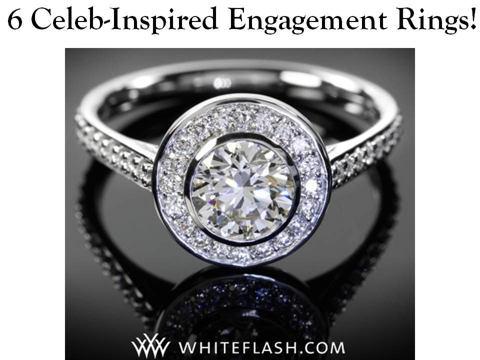 Stunning platinum and diamond engagement ring featuring halo bezel setting