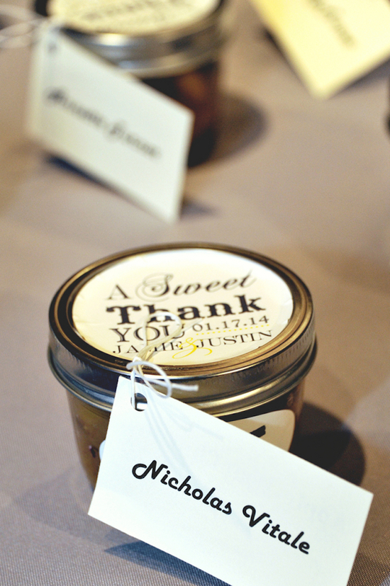 A Sweet Thank You wedding favors