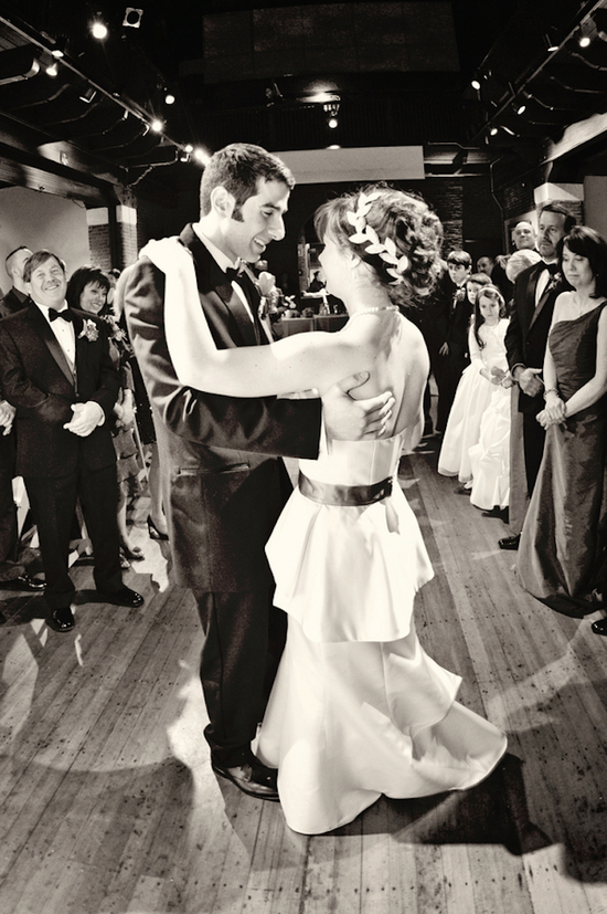 First dance at a museum wedding
