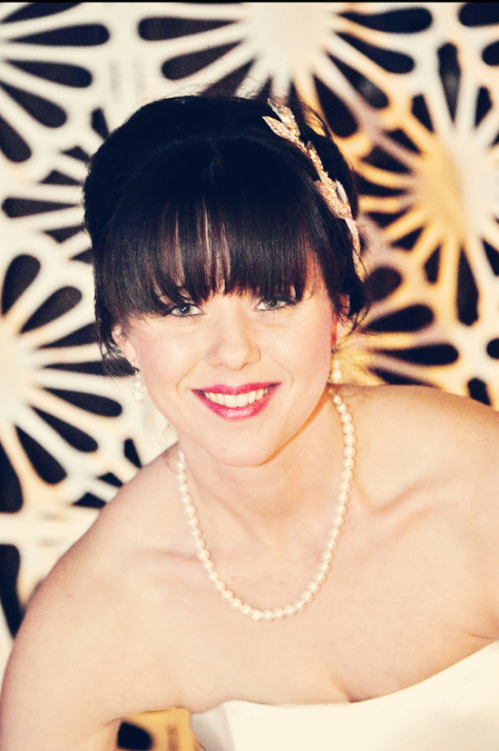 Gorgeous bride with bangs