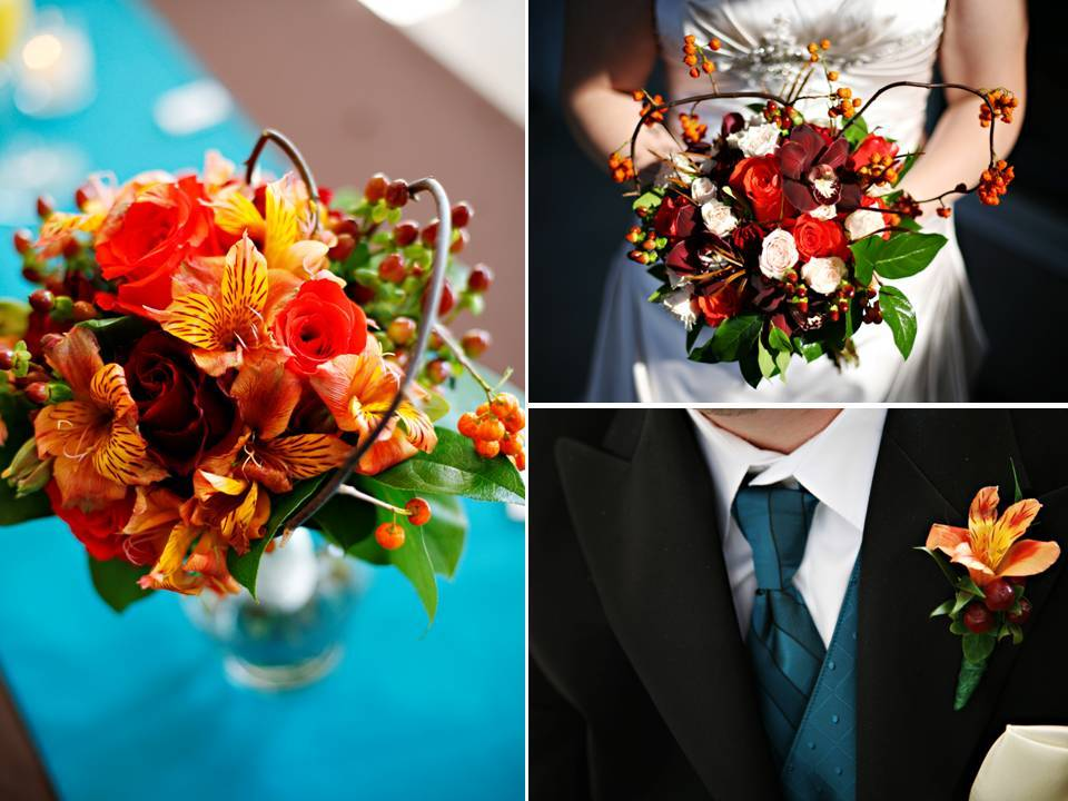 Outdoor-fall-wedding-in-tennessee-sunday-wedding-ceremony-brunch-bright-wedding-flowers.full