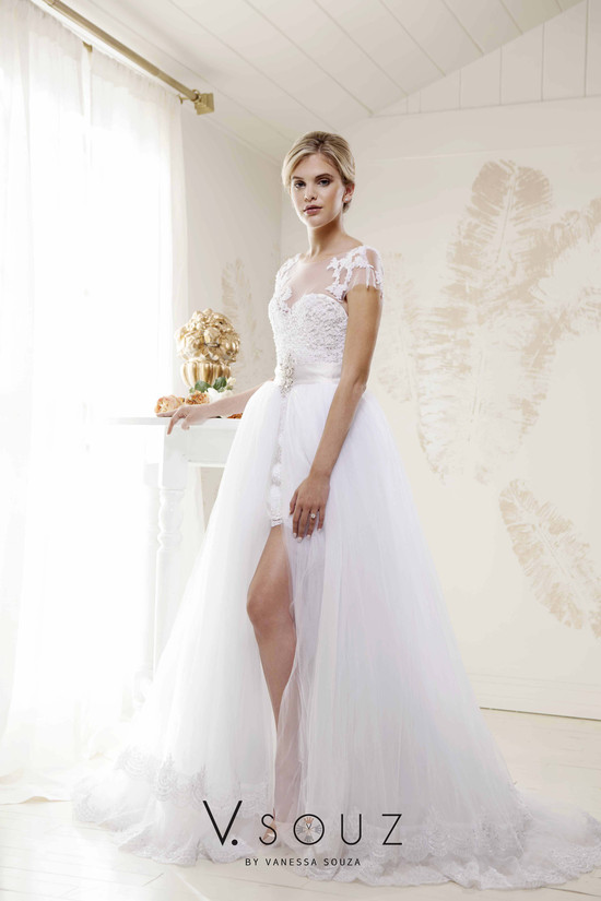 """Kate"" V. SOUZ wedding dress with detachable skirt"