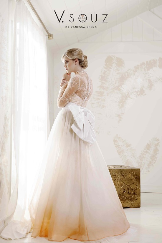 """Grace Kelly"" V. SOUZ wedding dress with detachable skirt"