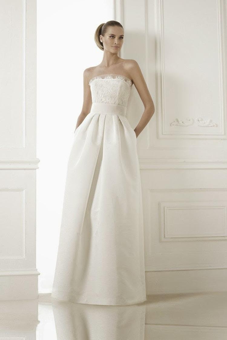 Classic minimalist wedding gown from Pronovias