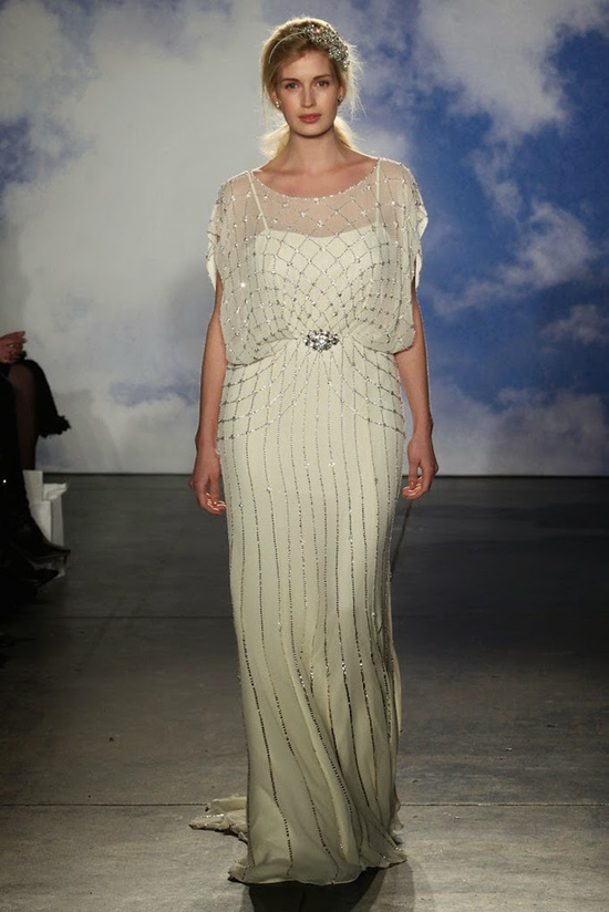 Grecian diva wedding gown from Jenny Packham