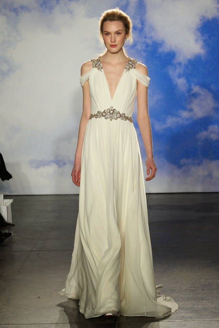 Grecian Inspired Wedding Gown From Jenny Packham