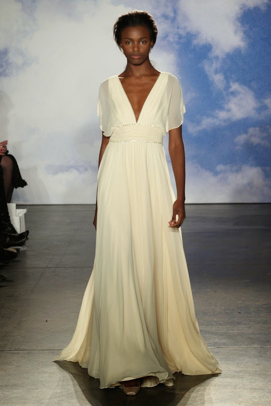 Simple Grecian wedding gown from Jenny Packham