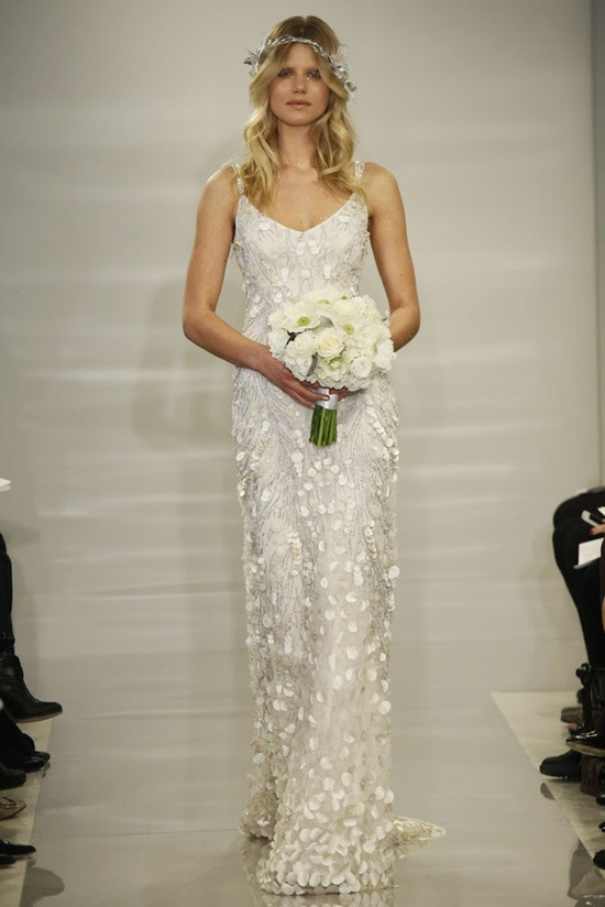 Wedding gown with bold applique from Theia