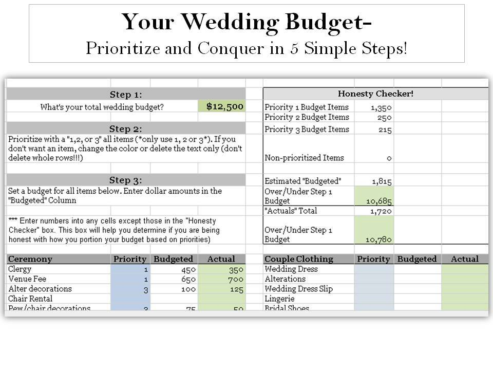 First then conquer your wedding budget without breaking the bank prioritize first then conquer your wedding budget without breaking the bank junglespirit Images
