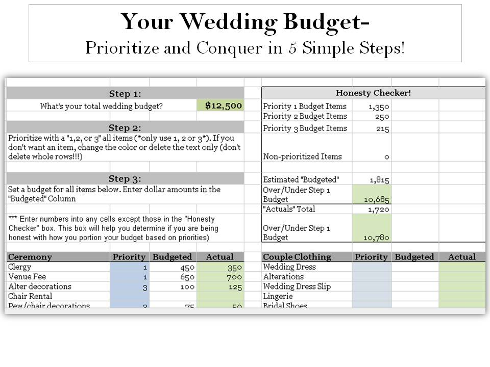 Prioritize First, Then Conquer Your Wedding Budget Without