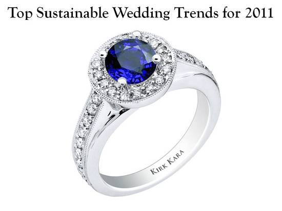 Top eco-friendly wedding trend for 2011- gemstone engagement rings