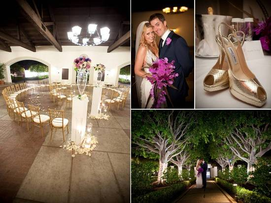 Elegant outdoor wedding at the Bel Air Country Club
