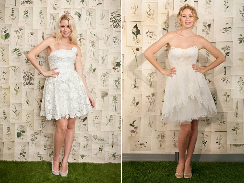 Romantic White Lace Wedding Reception Dresses Above The