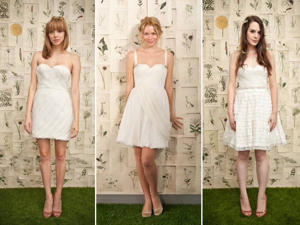 Little White Dresses from Ivy & Aster's 2011 bridal collection