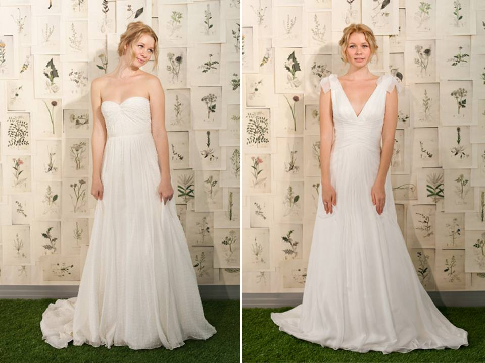 Simple and classic white a line 2011 wedding dresses for Simple classic wedding dress