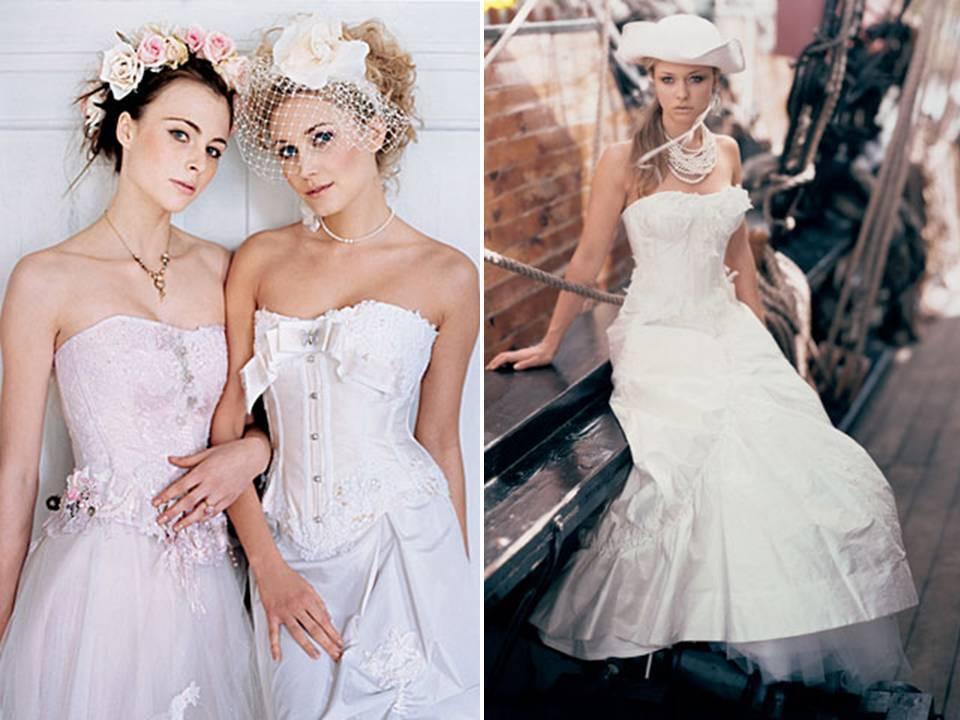 Romantic corset wedding dresses by british designer terry fox for Romantic wedding dress designers