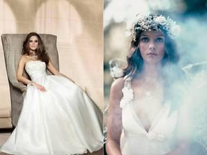 photo of British Bridal Trends- from Corset Wedding Dresses to Dramatic Bridal Fascinators