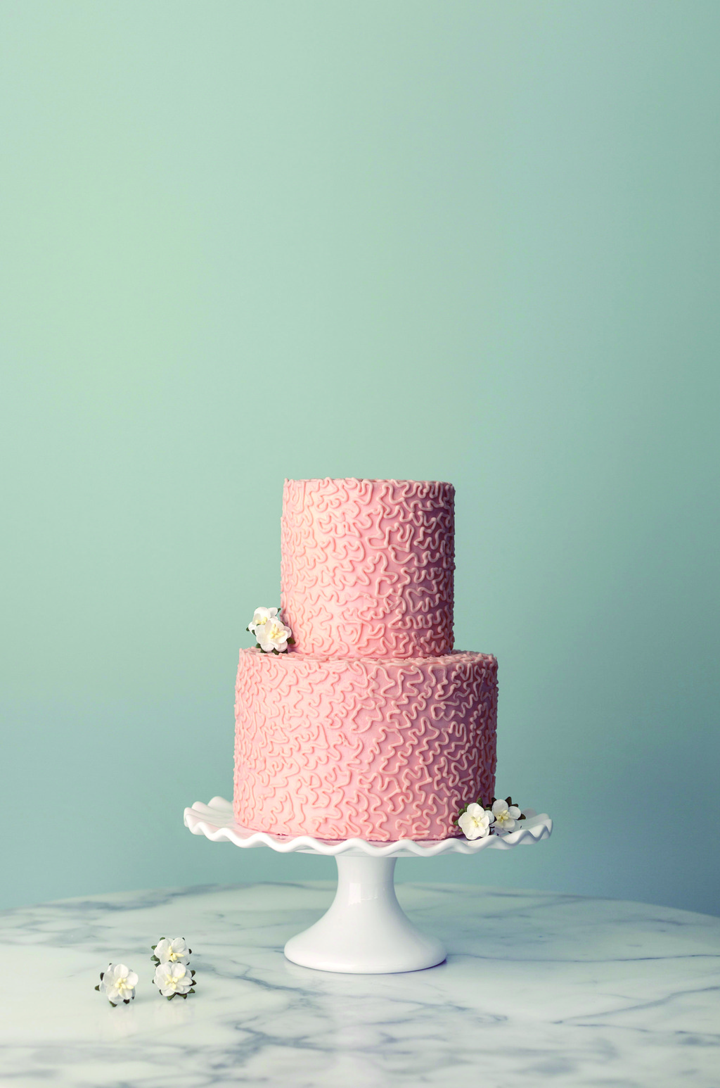 Two Tiered Wedding Cake From Magnolia Bakery Full Jpg
