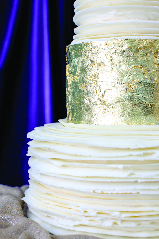 Up close wedding cake from Magnolia Bakery