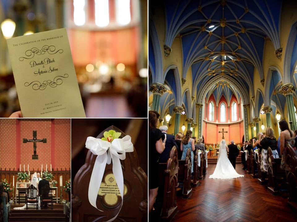 Traditional Catholic church with high vaulted ceilings for CT wedding ceremony venue