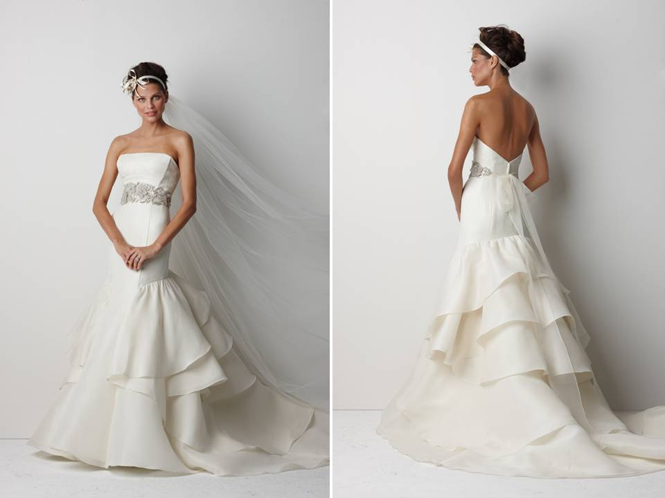 Latest Wedding Dresses Designs With A Belt On The Waist