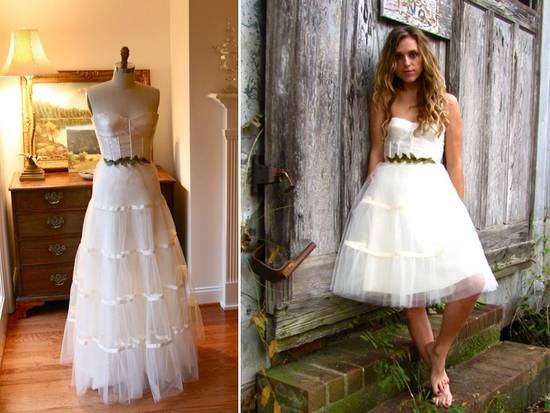 photo of Adeline wedding dress- knee or full-length- via Etsy