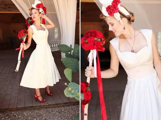 photo of Hey Little Lucy retro wedding dress via Etsy