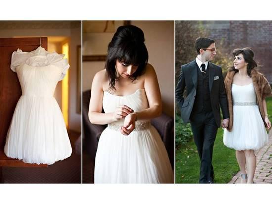 photo of Bubble Hem Wedding Dress via Etsy