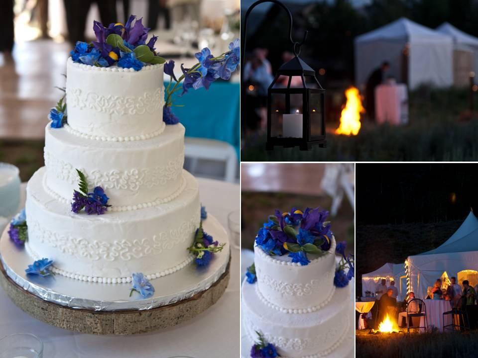 Classic-three-tier-white-wedding-cake-adorned-with-deep-purple-wedding-flowers.full