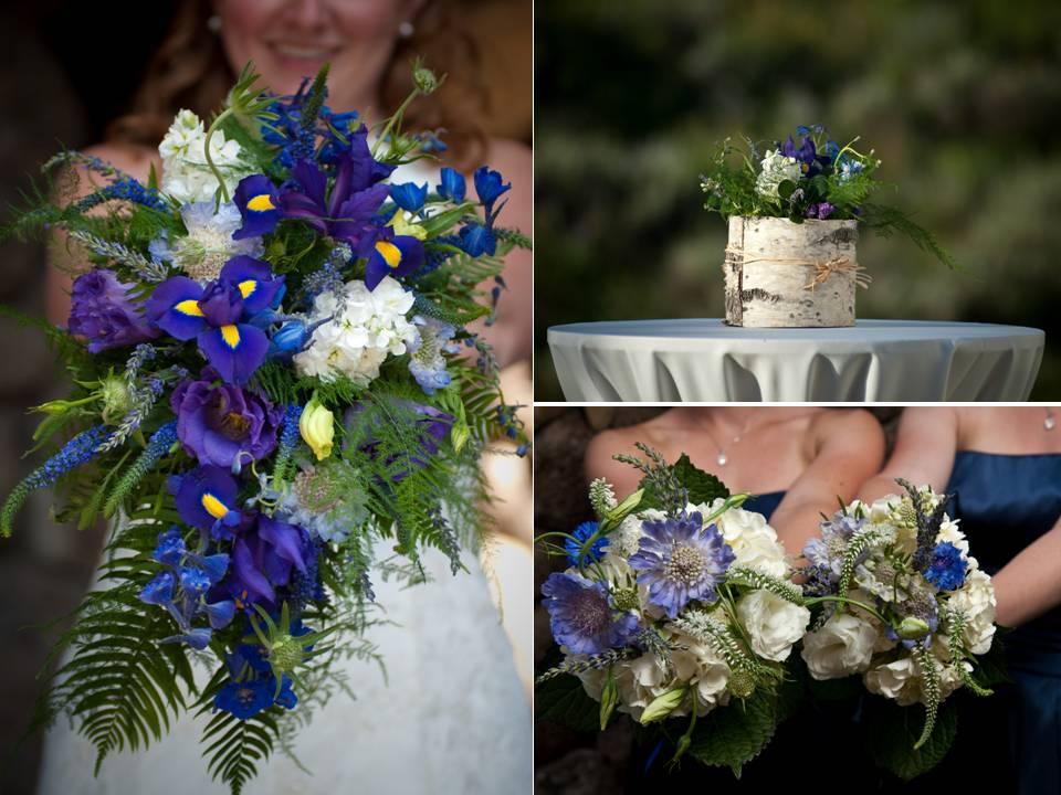 Real-weddings-outdoor-colorado-wedding-venue-rustic-wedding-flowers-wildflowers-purple-navy-blue.full