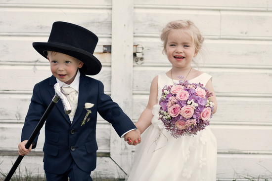 Ring bearer and flower girl in Norway