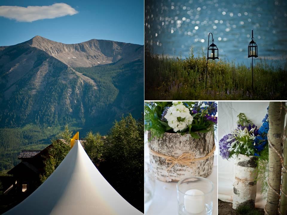 Scenic lakeside outdoor wedding venue in Colorado; rustic ...