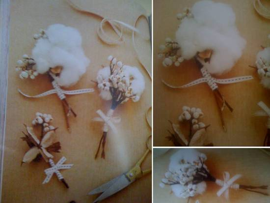 photo of Budget-Friendly DIY Wedding Flowers Project- Texture-Rich Boutonnieres