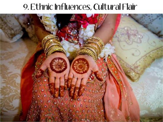 2011 weddings will be infused with cultural details and ethnic flair